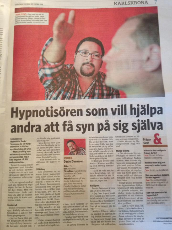 Daniel Persson hypnotiserar