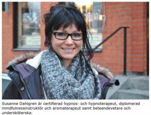 Susanne Dahlgren hypnotiserar