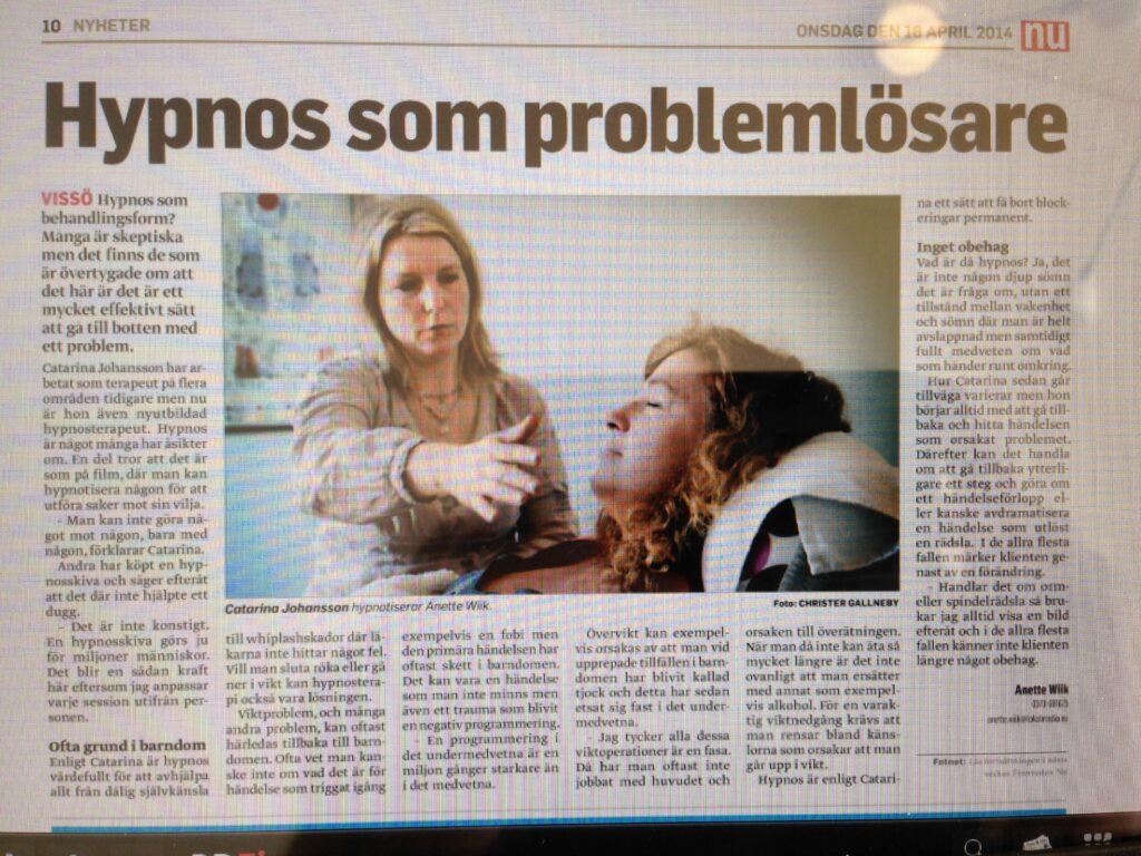 Catarina Johansson hypnotiserar